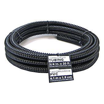 "Beckett Pond Corrugated Tubing - Black - 20' Long x .75"" Diameter"