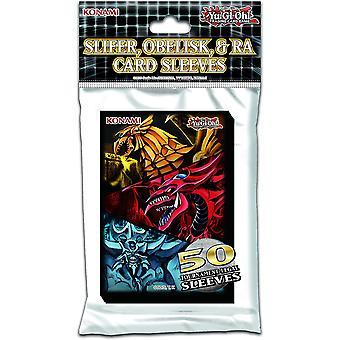 Yu-Gi-Oh! Slifer, Obelisk & Ra Card Sleeves (Pack de 50)
