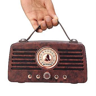 FM Radio Empfänger Portable Dekoration MP3 Radio Stereo Bluetooth Lautsprecher AUX USB wiederaufladbar