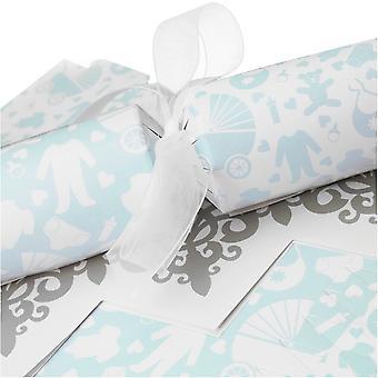 10 Blue Baby Shower Cracker - Machen und füllen Sie Ihr eigenes Kit ohne Bänder