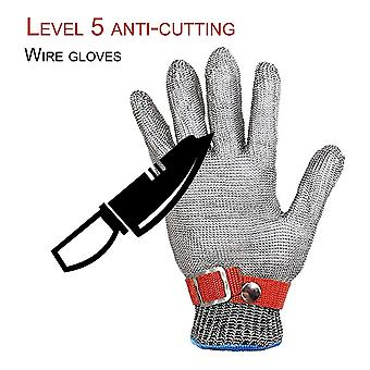 Breathable Comfortable Safety Cut Proof Stab Resistant Metal Mesh Gloves