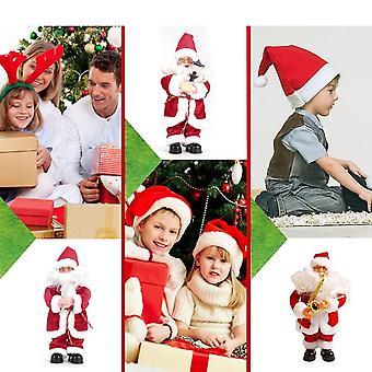 Рождество Электрический Санта Клаус Игрушки Домашний декор Вечеринка Украшение Стоячая кукла