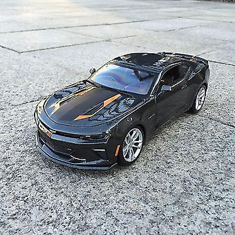 1:18 Chevrolet Camaro Car Alloy Decoration Collection Gift Toy Die Casting Model Boy Toy(black)