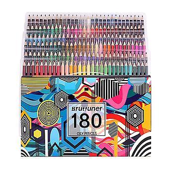 180 kleur professionele olieverf potlood set school tekening schets kunst benodigdheden