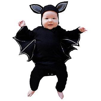 Halloween Baby Clothes Baby Bat Romper une pièce à manches longues