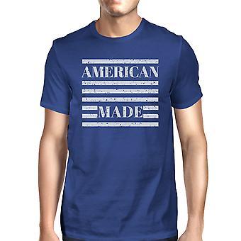 Americano feito Mens dia da independência original Design t-shirt para homens