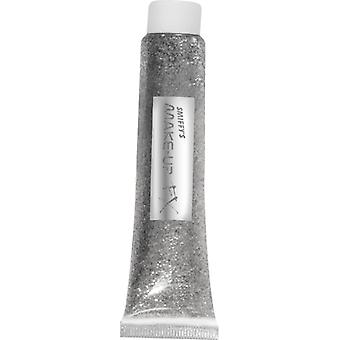 Sølv glitter gel 20 ml tube