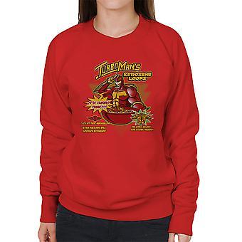 Kerosene Loops Turbo Man Jingle All The Way Cereal Women's Sweatshirt