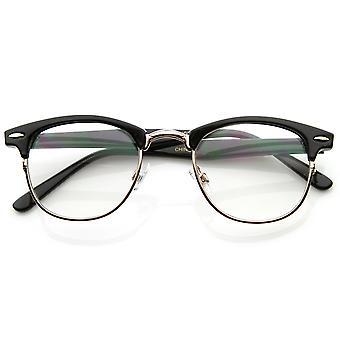 Calidad óptica con borde transparente RX'able Half Frame cuerno las gafas