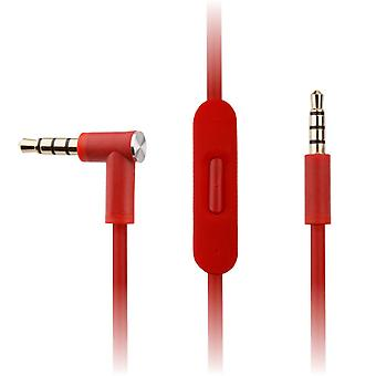 REYTID Replacement Red Audio Cable Compatible with Beats by Dr Dre Solo2 / Solo2 Wireless Headphones w/ Inline Remote, Volume Control and Microphone