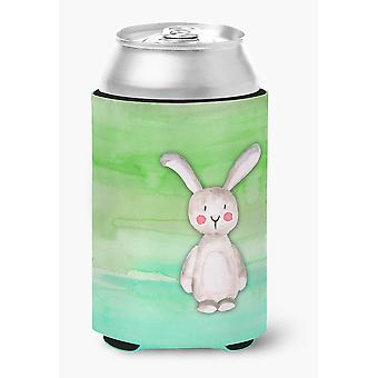 Carolines Treasures  BB7437CC Bunny Rabbit Watercolor Can or Bottle Hugger