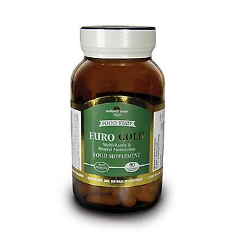 Natures Own Food State Euro Gold, 90 vegetarian tablets