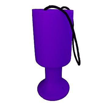 10 Round Charity Money Collection Boxes - Violet