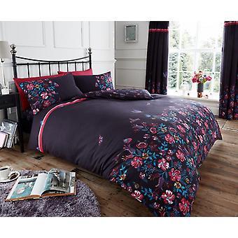 Maria blomstret dyne Quilt dækning Polycotton trykt sengetøj sæt alle størrelser