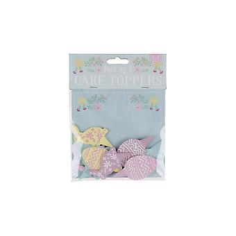 CGB Giftware Easter 8 Bunny and Egg Cake Toppers