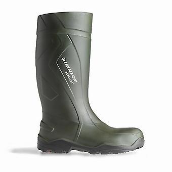 Dunlop C762933 Purofort + seguridad estándar Wellington en caja / botas para hombre