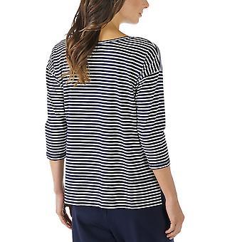 Mey 16819-408 Women's Night2Day Night Blue Solid Colour Pajama 3/4 Sleeve Pyjama Top