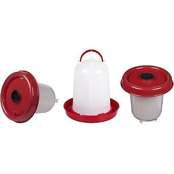Gaun Eco Chicken Drinker 10 L. With Plung (Red)
