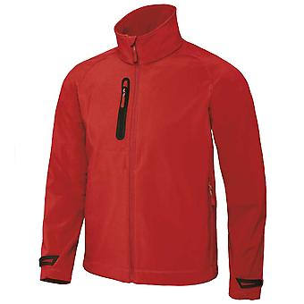 B&C Mens High Performance 3-Layer Laminate Softshell Light Pack Full Zip Jacket