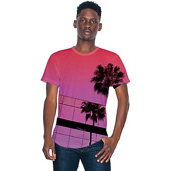 American Apparel Herren Sublimation leicht 100 % Polyester T-Shirt