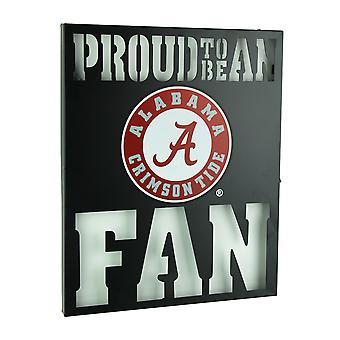 Proud To Be An Alabama Fan Cutout Metal Wall Sign
