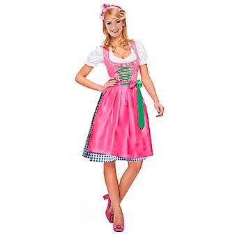 Dirndl Beierse kostuum - paars / roze