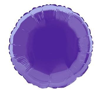 Folie ballon ronde solide metalen Deep Purple