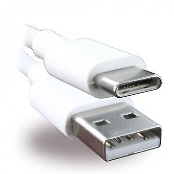 Dados de Huawei AP-51 USB carregador cabo USB tipo C branco