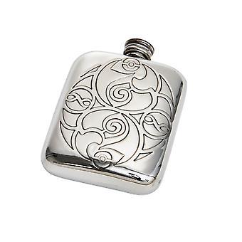 4oz Keltische spiralen Pocket kolf *