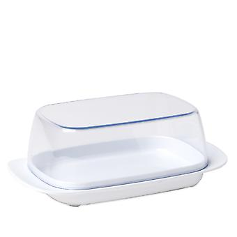 Rosti Mepal Plastic Butter Dish, Clear with White Base