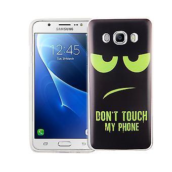 Matkapuhelin tapauksessa Samsung Galaxy J5 2016 kansi tapauksessa suojapussin motiivi slim silicone TPU Älä koske minun puhelimen Grün