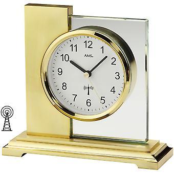 无线电时钟表时钟无线电金属外壳与地面矿物玻璃