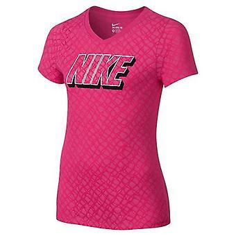 Nike Lynx allover stampa t-shirt ragazze 807429-616