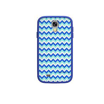 הגוף כפפה MySuit מקרה עבור Samsung Galaxy S4 (כחול/שברון)