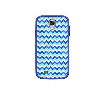 Luva de corpo MySuit caso para Samsung Galaxy S4 (azul/Chevron)