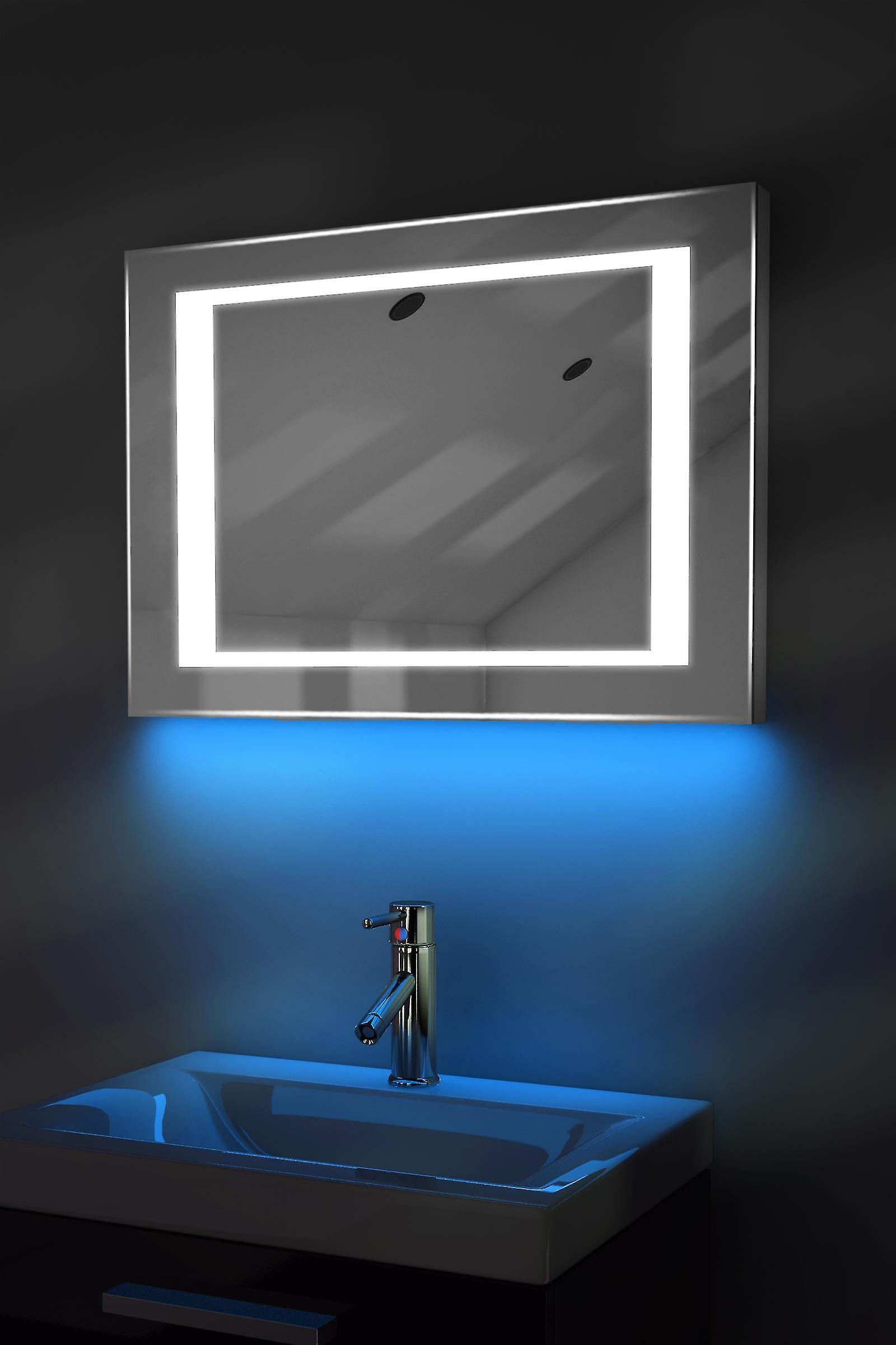 Auto couleur changement RGB LED miroir avec désembuage & K48irgb capteur