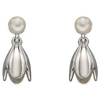 Delar Silver Tulip och Pearl örhängen - Silver