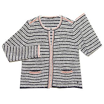 OLSEN Cardigan 11002594 White With Navy And Red