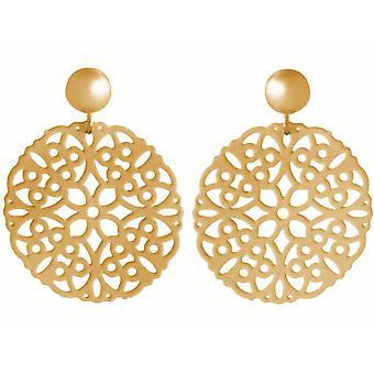 Gemshine damer örhängen yoga Mandala cirkel silver, guldpläterad eller ros 3,5 cm