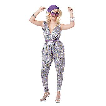 Womens Boogie Fever Disco 70s Hippy & Hippie Fancy Dress Costume
