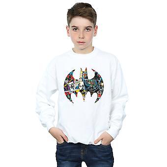 DC Comics Boys Batman Comic Book Logo Sweatshirt