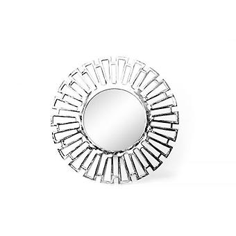 58X58X3.5cm Round Sun Slash Wall Hanging Glass Mirror Aluminium Frame