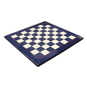 17 inch Blue & ivoor Briar hout glanzend breed ingelijste Schaken Board 1 3/4 Inch pleinen