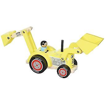 取り外し可能なドライバーとインディゴ Jamm 掘りデイブ木のおもちゃ