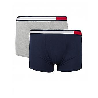 Tommy Hilfiger 2 Pack Of Flag Waistband Trunks