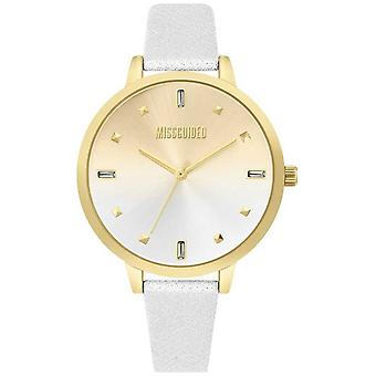 Missguided | Ladies White Leather Strap | Two Tone Dial | MG020SG Watch