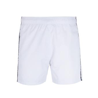 Logo HUGO attachant du ruban adhésif blanc Swim Shorts