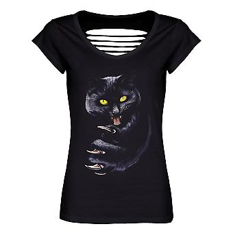 Unorthodox Collective Ladies/Womens Grimalkin Razor Back T-Shirt