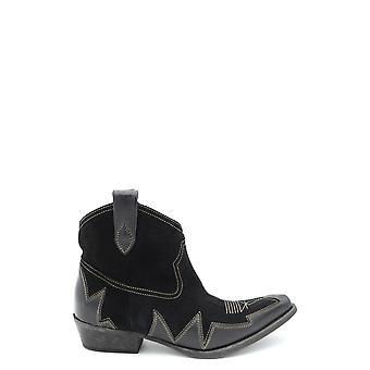 L.a L.a Tex Exbc287002 Women's Black Leather Ankle Boots