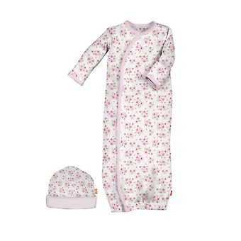 Magnetic Me™ Cotton Magnetic Baby Gown & Hat Set